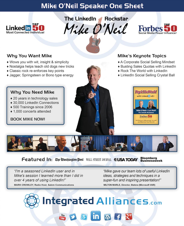 Mike O'Neil Speaker One Sheet