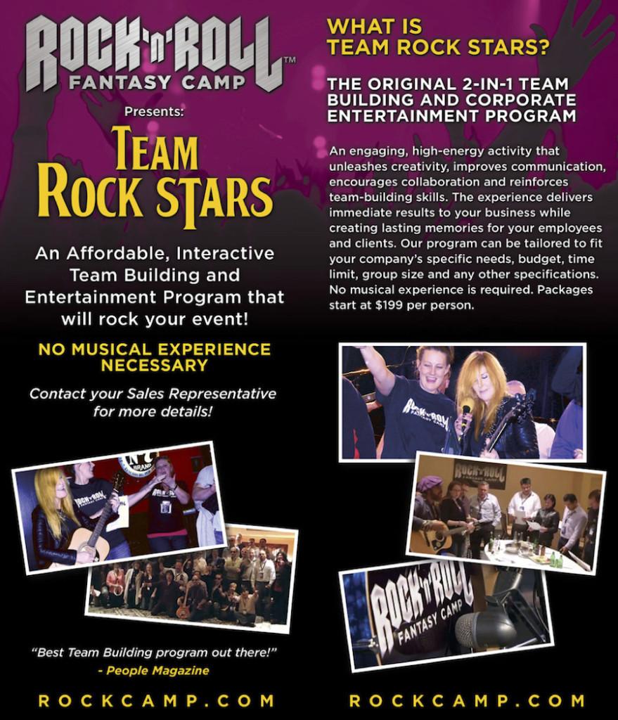 Rock and Roll Fantasy Camp Team Rockstars