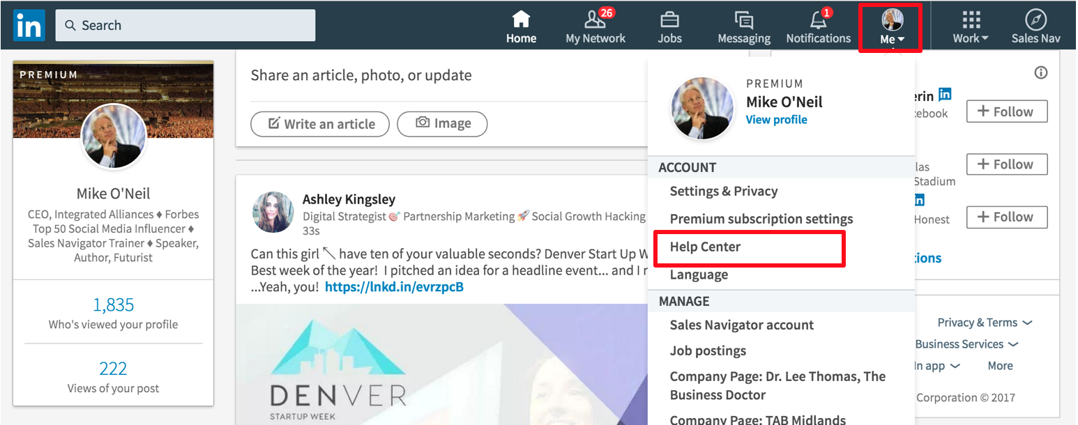 LinkedIn Trouble Ticket